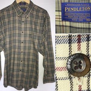 Pendleton Men's Size XL Plaid Button Down Shirt